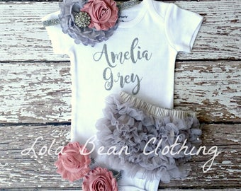 Baby Girl Coming Home Outfit | Baby Girl Take Home Outfit | Baby Girl Clothes | Baby Shower Gift | lolabeanclothing | Baby Girl Outfit