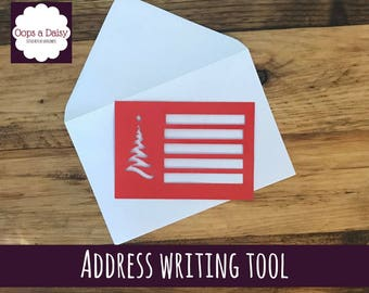 Address writing tool - christmas - stencil - envelope