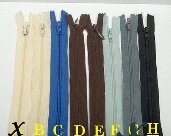 23.5 inches long zippers,creamy yellow/blue/brown/grey/black 23.5 inches long zippers,sewing,crafting,costume projects,crafting and notions