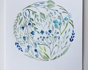 Earth Floral Watercolor