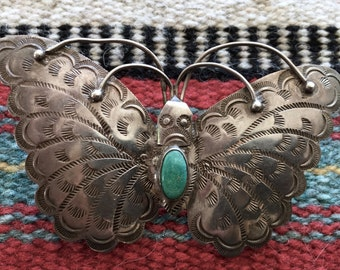 A Native American Beauty in a Butterfly Pin