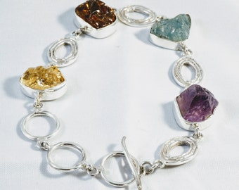 Mother's Day gifts, Silver Bracelet, Druzy stone bracelet, unique gifts, gifts for her,sterling silver,stone bracelet
