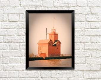Big Red Lighthouse - Art Photography Print -  Photo Print - Holland Michigan