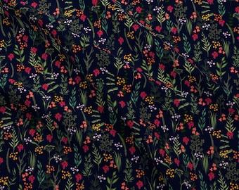 Night Botanicals Fabric - Margaux Iveta Abolina By Onesweetorange - Floral Flower Garden Botanics Cotton Fabric By The Yard With Spoonflower
