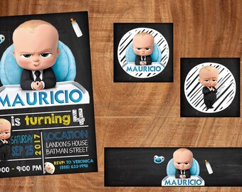 18 boss baby invitation also  tags label party birthday english or spanish