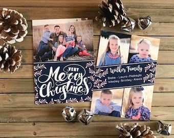 Christmas Card - Photo Christmas Card - Very Merry Christmas