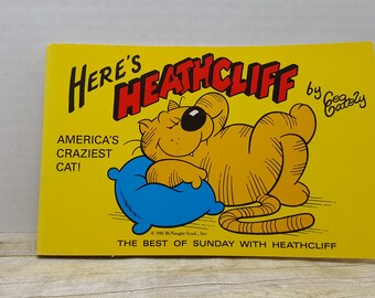 Here's Heathcliff, 1981,  Geo Gately vintage comic, sunday funnies, orange tabby