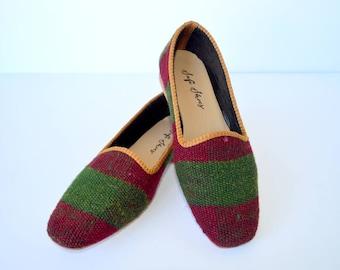 Women kilim shoes - 38 euro size (25,5 cm -10 inch)