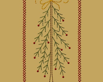 MACHINE EMBROIDERY-Stick Tree with Bow-5x7-Instant Download