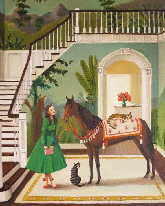 A House Horse Called Rousseau. Art Print.