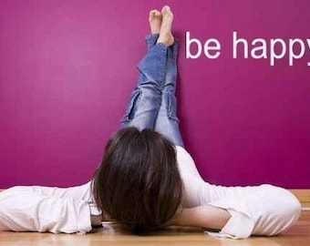 BE HAPPY. Surface Graphic Wall Decal wall sticker by Lana Kole