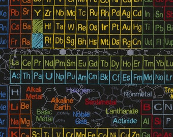 Science fabric etsy timeless treasures science periodic table chemical elements black science c5708 charcoal 100 cotton urtaz Image collections