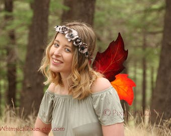 Autumn Fairy Wings, Costume Fairy Wings, Halloween costume, cosplay wings, autumn leaves