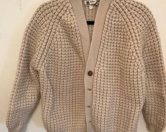 Hand knitted vintage cardigan