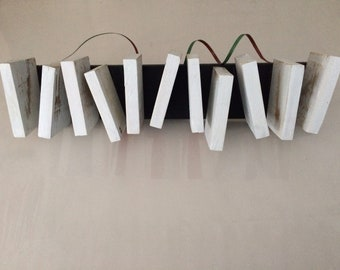 White Assemblage #5 Piano Keys