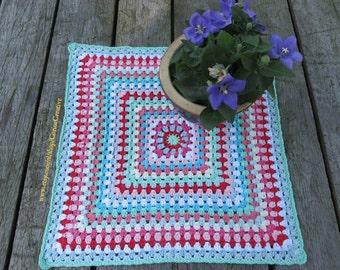 Crochet cotton tablecloth