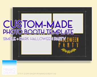 Custom Made Halloween Party Simple Dark Minimal Photobooth Photo Booth Template
