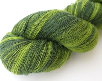 KAUNI Estonian Artistic Wool Yarn Green  8/1, Art Wool  Yarn for Knitting, Crochet