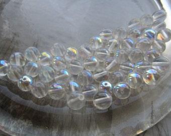 Czech Preciosa 8mm Crystal AB Beads 30Pcs.