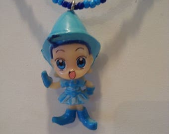 Necklace blue fairy girl