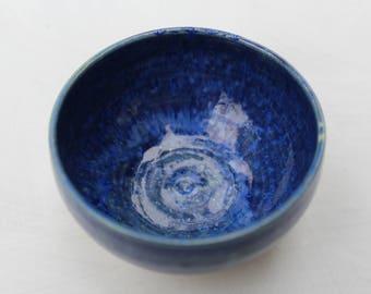 Mini Ceramic Bowl - Small Sized - Effect-Blue - Hand Thrown Stoneware - Ready to Ship
