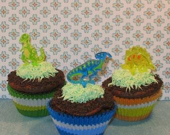 Dinosaur Cupcake Picks   (12 pc Set)