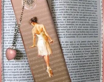 """Laminated bookmarks """"Ballerina"""", dancer, cheap gift idea"""