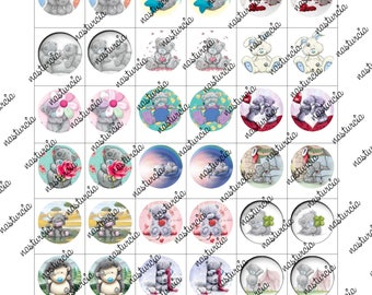 blue nose friends bottle cap images cabochon images 1 inch 25 mm printable images instant download