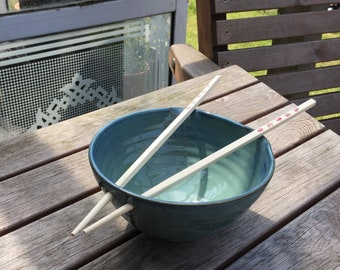 Slate Blue Rice or Noodle Bowl