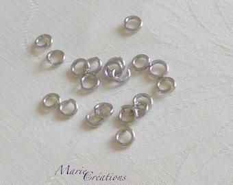Open rings 6 X 1.2 mm - stainless steel