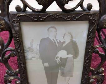 Vintage Brass Ornate Frame