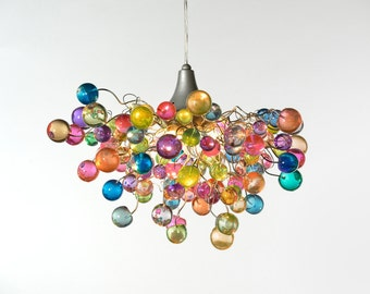 Lighting chandeliers, lighting ceiling, chandelier with Pastel bubbles for girls bedroom, living  room, bathroom designer lighting.