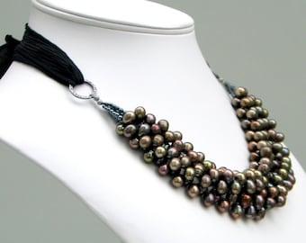 Pearl Bib Necklaces