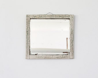 antique beveled mirror, wood frame mirror