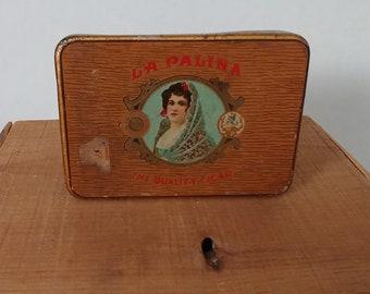 1920s La Palina Cigar Tin, Congress Cigar Company, Philadelphia, Vintage Metal Tin