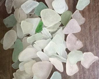 Pieces of Sea Glass, Genuine Sea Glass, White Beach Glass, Bulk Sea Glass, Tumbled Glass, Sea Glass for Decor