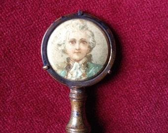 Celluloid portrait antique paper holder