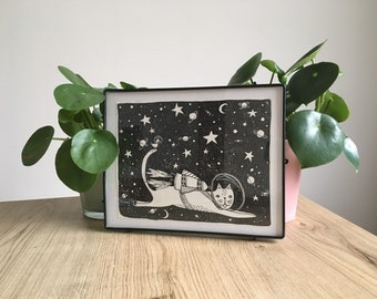 Space cat Original illustration
