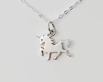 Unicorn necklace/ Unicorn/ sterling silver/ silver unicorn necklace/ Unicorn pendant/tiny unicorn charm