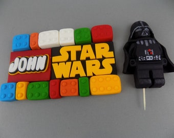STAR WARS Set 1-7 ( check description) edible cake toppers decoration,shipping from UK