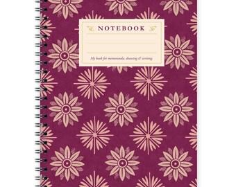 Notebook A5 - Flower Pattern