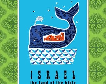 Israel The land of the BIble Travel Poster Wall Decor, Travel Art (7 print sizes available)