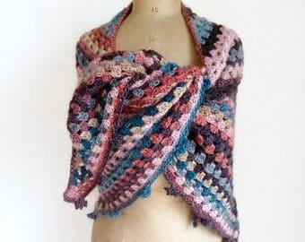 Crochet triangle shawl crochet shawl triangle scarf crochet triangular shawl granny square shawl crochet scarf triangular scarf