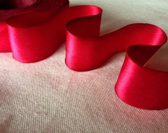 American Beauty Red Silk Ribbon-2 yard increments