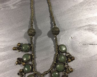 Vintage necklace Belly dancing? Bells and stones