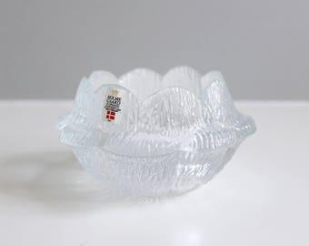 Holmegaard Copenhagen Waterlily Flower Candleholder Glass Danish Modern Sidse Werner