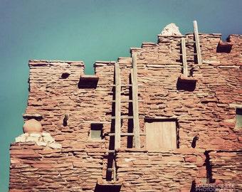 Pueblo - Southwest photograph, Arizona, Southwestern art, western decor, desert, fine art photo, wall art