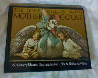Jessie Wilcox Smith MOTHER GOOSE Book Hardcover 1986 w/ DJ *Nice*
