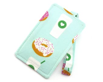 Mint Donut and Coffee Luggage Tag - Bag Tag - Travel Accessories - Gift for Traveler - Fun Gift