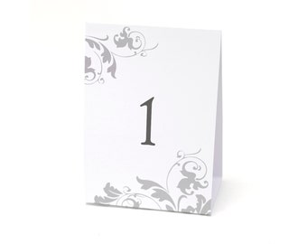 Tent Style Table Numbers For Wedding Reception Or Other Special Event  / Tent Style Table Number Cards 1 To 40